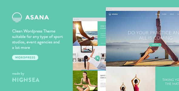 Wordpress Immobilien Template Asana - Sport and Yoga WordPress Theme