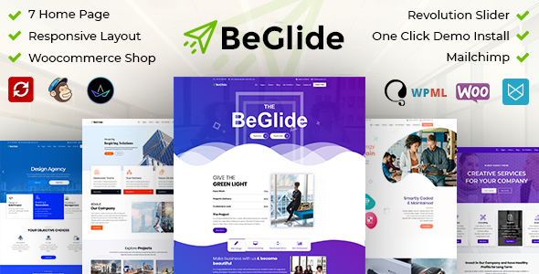 Wordpress Immobilien Template BeGlide: Corporate Business Consultant Agency WordPress Theme