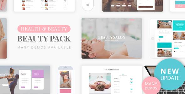 Wordpress Immobilien Template Beauty Pack - Wellness Spa & Massage
