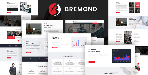 Wordpress Immobilien Template Bremond - Multipurpose Business Consulting WordPress Theme
