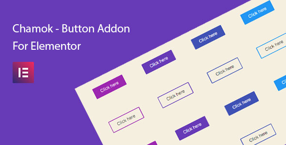 Wordpress Add-On Plugin Chamok - Button Addon For Elementor Page Builder