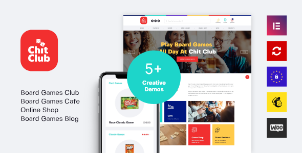 Wordpress Shop Template Chit Club | Board Games WordPress Theme
