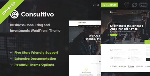 Wordpress Immobilien Template Consultivo - Business Consulting and Investments WordPress Theme