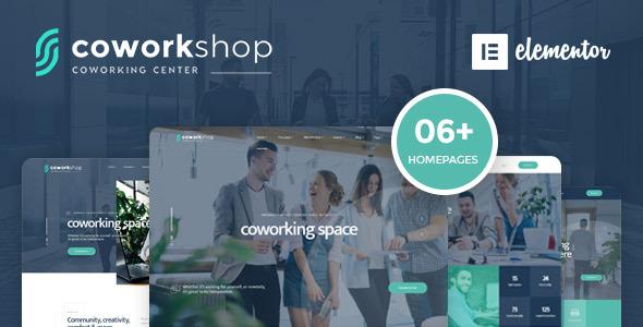 Wordpress Immobilien Template Coworkshop | Coworking Space WordPress Theme