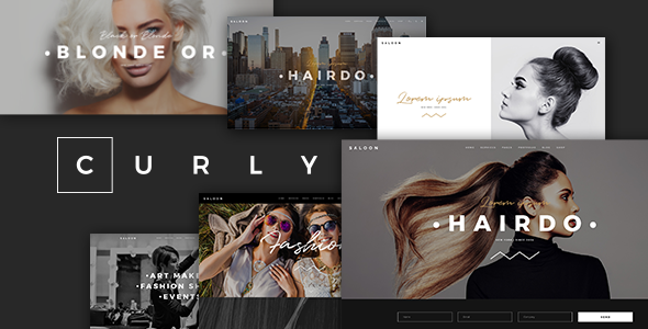 Wordpress Immobilien Template Curly - A Stylish Theme for Hairdressers and Hair Salons
