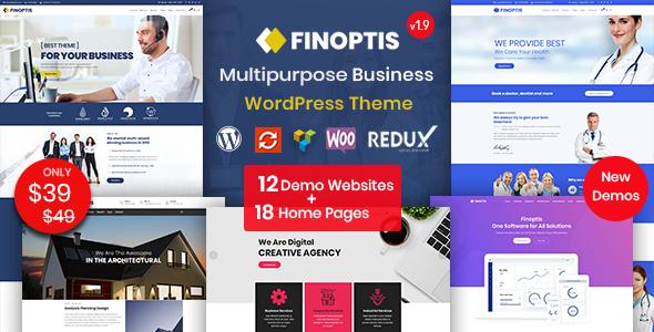 Wordpress Immobilien Template Finoptis - Multipurpose Business WordPress Theme