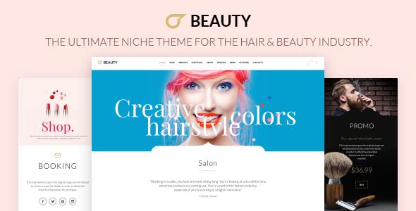 Wordpress Immobilien Template Hair Salon - Hairdresser WordPress