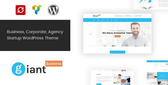 Wordpress Corporate Template Giant Business - Multipurpose Agency & Corporate WordPress Theme