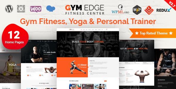 Wordpress Immobilien Template Gym Edge - Fitness WordPress Theme