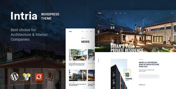 Wordpress Immobilien Template Intria - Architecture and Interior WordPress Theme