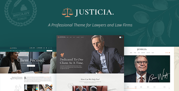Wordpress Immobilien Template Justicia - Lawyer and Law Firm Theme