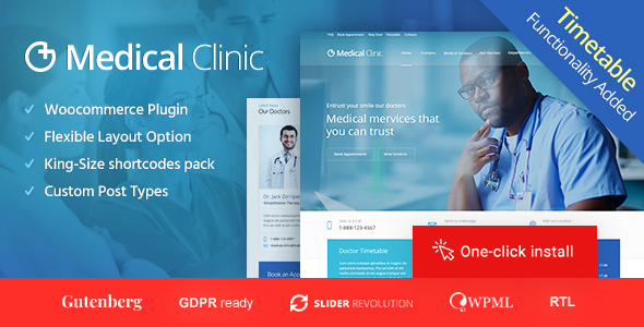 Wordpress Immobilien Template Medical Clinic - Doctor and Hospital Health WordPress Theme