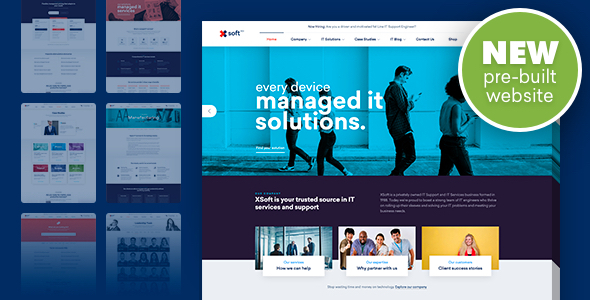 Wordpress Immobilien Template Nanosoft - WP Theme for IT Solutions and Services Company
