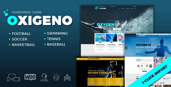 Wordpress Immobilien Template Oxigeno – Sports Club & Team
