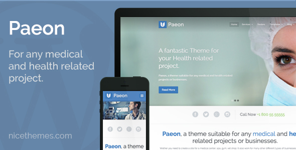 Wordpress Immobilien Template Paeon - Medical WordPress Theme