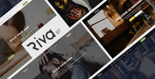 Wordpress Corporate Template Riva - Multipurpose Booking for Small Businesses