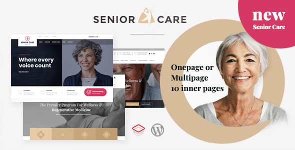 Wordpress Immobilien Template Senior | Health and Medical Care WordPress Theme