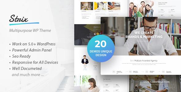 Wordpress Immobilien Template Strix - Multipurpose Business & Agency WordPress Theme