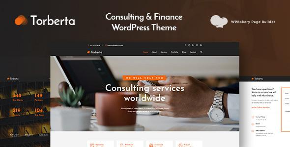 Wordpress Immobilien Template Torberta - Consulting & Finance WordPress Theme