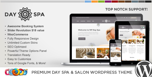 Wordpress Immobilien Template WP Day Spa & Salon WordPress Theme