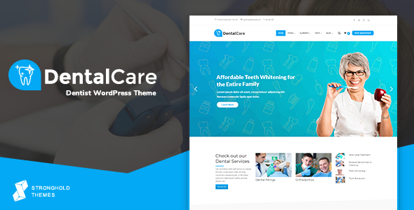 Wordpress Immobilien Template Dental Care - Dentist & Medical WordPress Theme