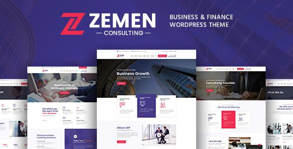 Wordpress Immobilien Template Zemen - Multi-Purpose Consulting Business WordPress Theme