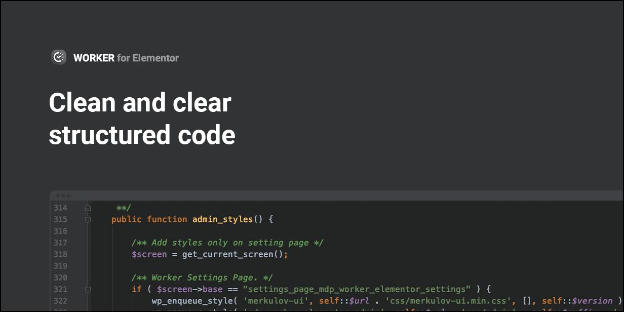 Sauberer und klar strukturierter Code