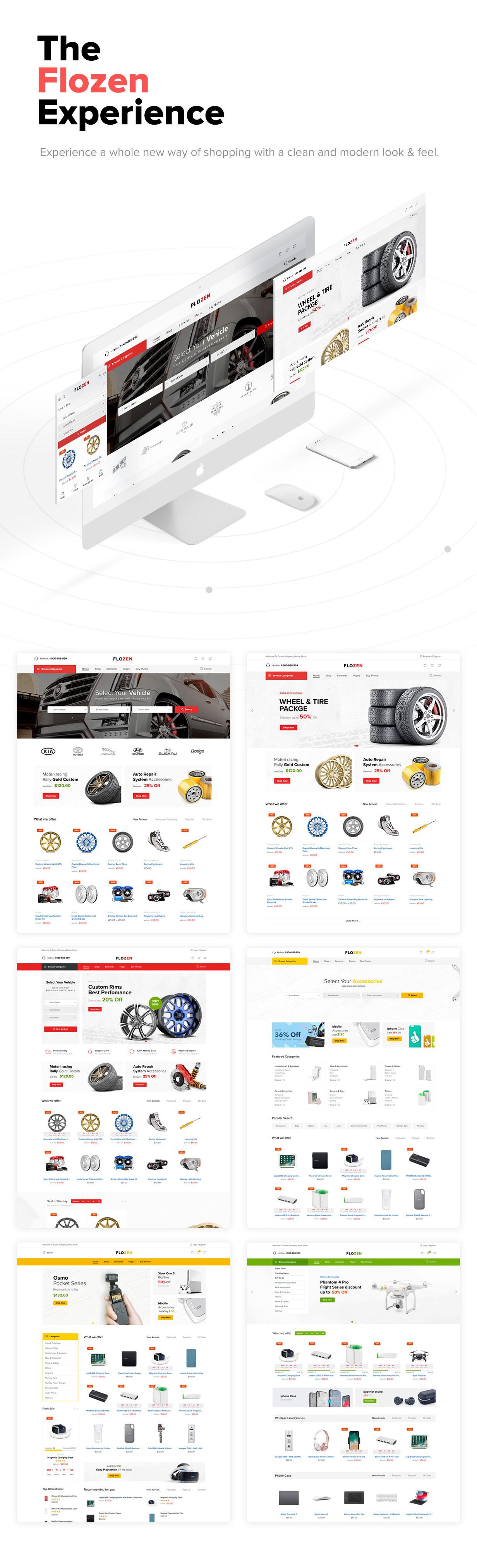 Flozen - WooCommerce AJAX WordPress Theme - 1