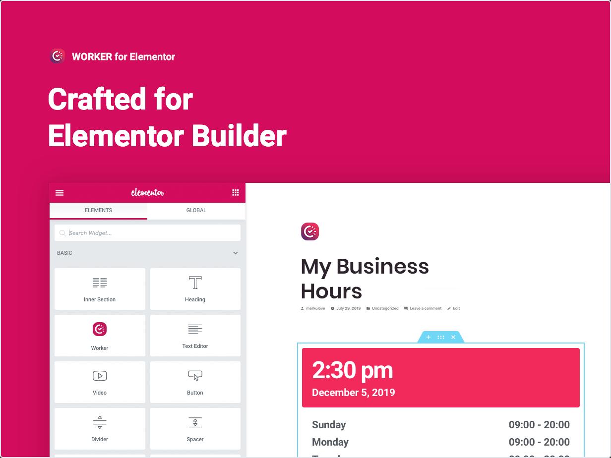 Hergestellt für Elementor Builder