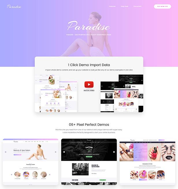 Paradise - Mehrzweck Spa & Beauty WordPress Theme - 9