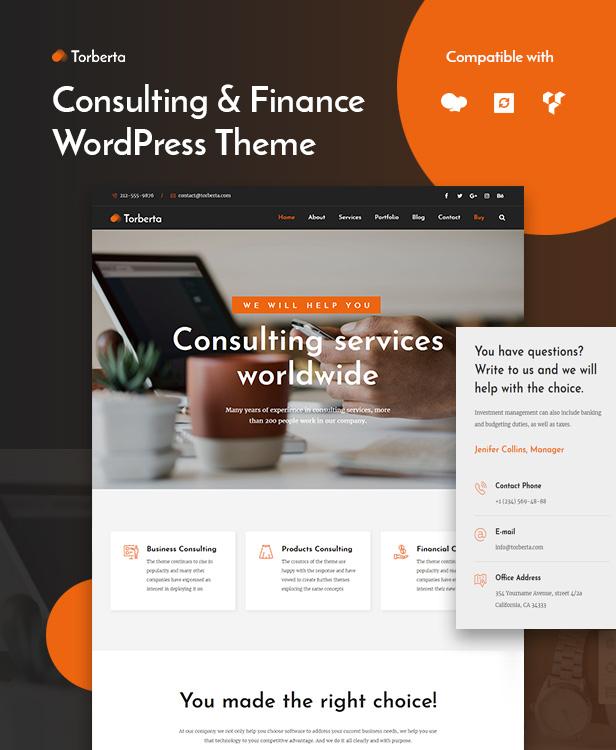 Torberta Consulting & Finance WordPredd Theme