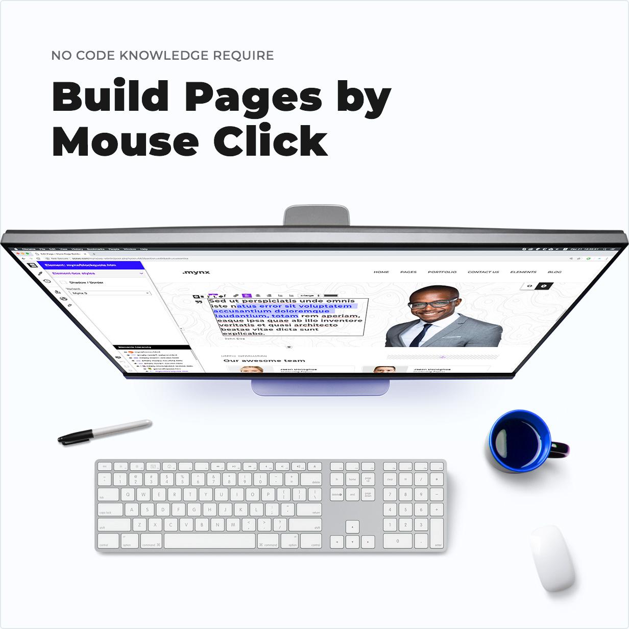 Keine Code-Kenntnisse erforderlich - Seiten per Mausklick erstellen