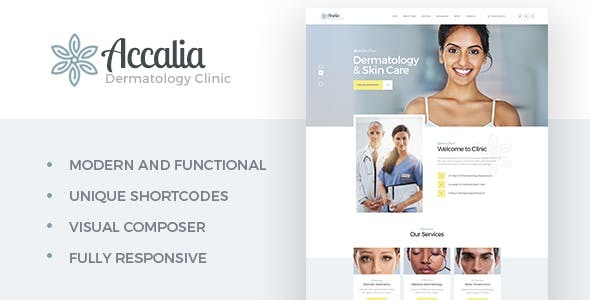 Wordpress Immobilien Template Accalia | Dermatology Clinic & Cosmetology Center Medical WordPress Theme