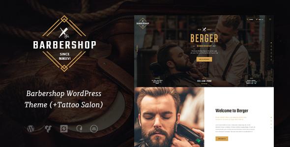 Wordpress Immobilien Template Berger | Barbershop and Hairdresser + Tattoo Salon WordPress Theme