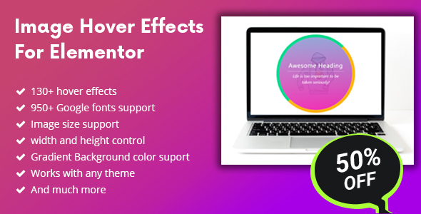 Wordpress Add-On Plugin Image Hover Effects For Elementor