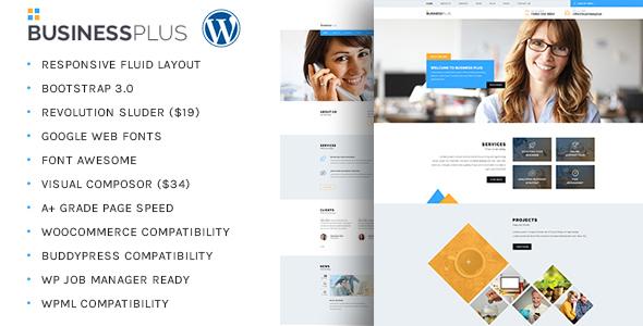 Wordpress Corporate Template Business Plus - Corporate Business WP Theme