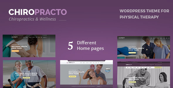Wordpress Immobilien Template Chiropracto - Physical Therapy WordPress Theme