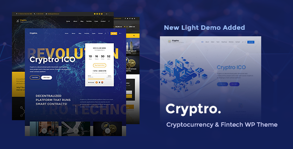 Wordpress Immobilien Template Cryptro - Cryptocurrency, Blockchain , Bitcoin & Financial Technology