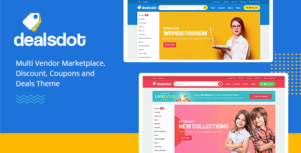 Wordpress Shop Template Dealsdot - Multi Vendor Marketplace Theme