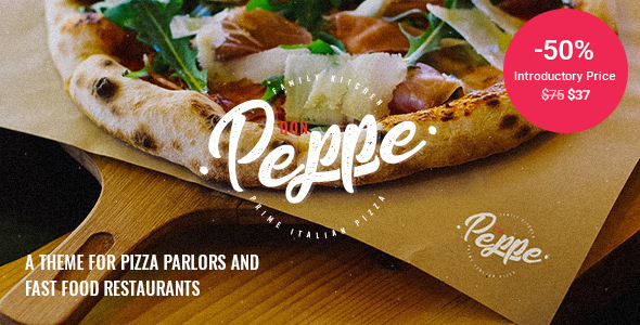 Wordpress Entertainment Template Don Peppe - Pizza and Fast Food Theme