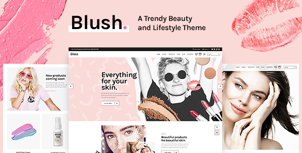 Wordpress Immobilien Template Blush - A Trendy Beauty and Lifestyle Theme