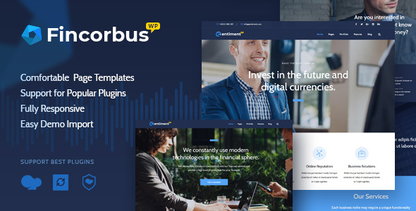 Wordpress Immobilien Template Fincorbus - Finance Corporate WordPress Theme