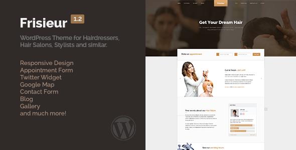 Wordpress Immobilien Template Frisieur - WordPress Theme for Hair salons
