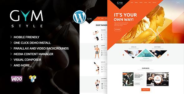 Wordpress Immobilien Template GYM | Sport & Fitness Club WordPress Theme