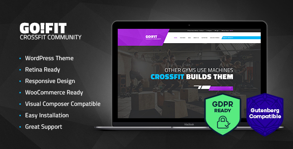 Wordpress Immobilien Template GoFit! | Fitness, Gym and Crossfit WordPress Theme
