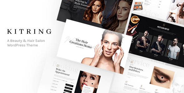 Wordpress Immobilien Template Kitring - A Beauty & Hair Salon WordPress Theme