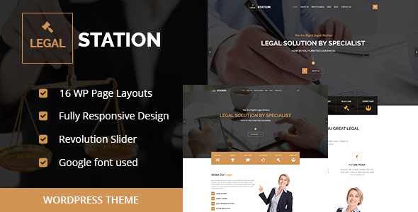 Wordpress Corporate Template LEGAL STATION- Responsive Legal Solution WordPress Theme