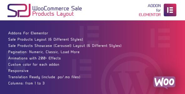 Wordpress Add-On Plugin WooCommerce Sale Products Layout for Elementor WordPress Plugin