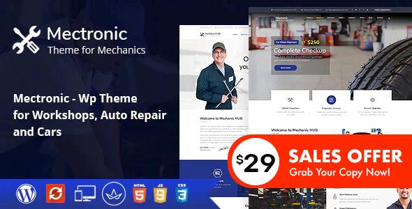 Wordpress Immobilien Template Mectronic - WordPress Theme for Car Repair Center