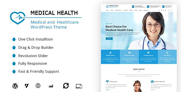 Wordpress Immobilien Template MedicalHealth - Doctor & Healthcare Clinic WordPress Theme
